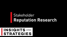 Stakeholder Reputation Research