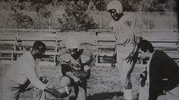 Color Line of Scrimmage - A 1950's African-American High School Football Team